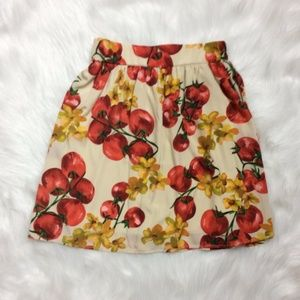 Vintage Everly cream apple skirt rockabilly Size S